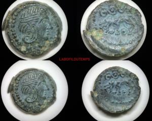 ofildutemps.com:restauration de monnaies: Potin Carnutes au loup