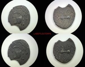 ofildutemps.com:restauration de monnaies:drachme parisii vexin au cheval androcéphale
