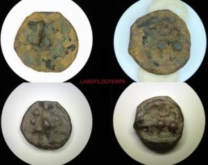 ofildutemps.com:restauration de monnaies:potin eduens au mannequin