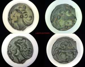 ofildutemps.com:restauration de monnaies:potin moyenne seine au taureau et au lis