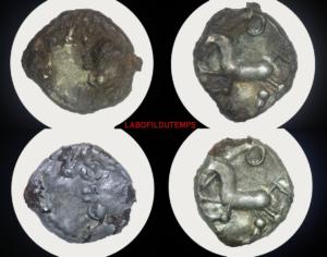 ofildutemps.com:restauration de monnaies:quinaire Eduens fourré