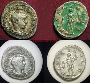 ofildutemps.com:restauration de monnaies:antoninianus henerius etruscus pietas