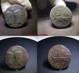 ofildutemps.com:restauration de monnaies:dupondius de nimes type III