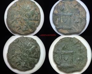 ofildutemps.com:restauration de monnaies:minimus claudius II goticus consecratio