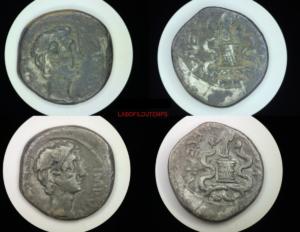 ofildutemps.com:restauration de monnaies:quinarius octavius asia recepta