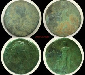 ofildutemps.com:restauration de monnaies:sestercius diva faustina  aeternitas sc