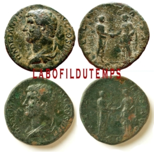 ofildutemps.com:restauration de monnaies:sestertius hadrianus felicitas avg